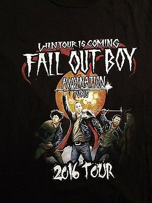 2016 Fall Out Boy Concert T Shirt L Awolnation Pvris
