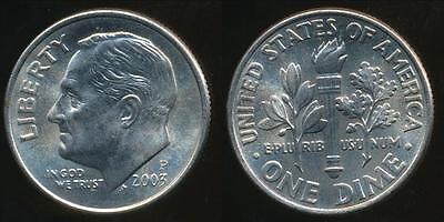United States, 2003-P Dime, Roosevelt - Uncirculated