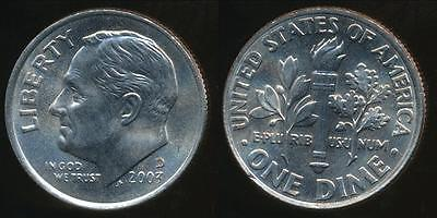 United States, 2003-D Dime, Roosevelt - Uncirculated