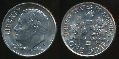United States, 2004-P Dime, Roosevelt - Uncirculated