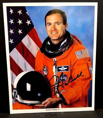JAMES HALSELL Signed Autograph SPACE SHUTTLE Photo NASA Astronaut ON TRIAL NOW
