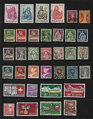 Switzerland Stamps - 35 older stamps used - nice collection!