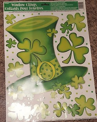 Unique Lucky Stripes St. Patrick's Day Window Clings