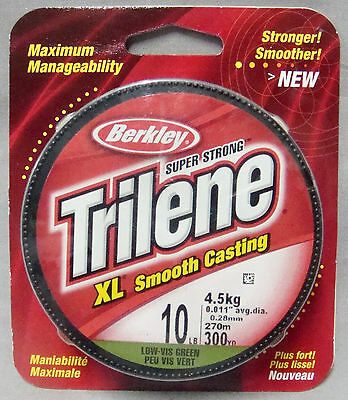 Berkley Trilene XL Smooth Casting 10lb x 270m Mono Line - Low Vis Green