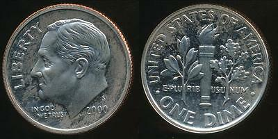 United States, 2000-S Dime, Roosevelt - Proof