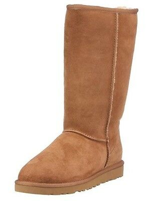 Ugg Boots Chestnut Tall Classic Australian Sheepskin Cowhide Leather Mens Ladies