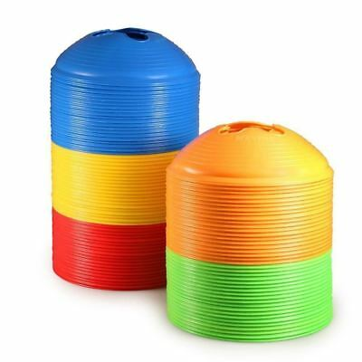 Kevenz Thicker Soccer Discs Cones Yellow Red Green Blue Orange 100 Counts