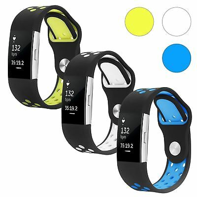 Fitbit Charge 2 Band, Hanlesi Silica gel Soft Silicone Adjustable Fashion...
