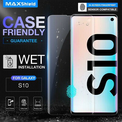 Galaxy S8/S9 Plus Note 8 Screen Protector, MaxShield HD Aqua Crystal for Samsung