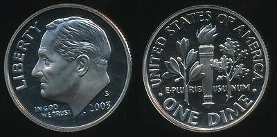 United States, 2003-S Dime, Roosevelt - Proof