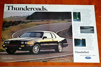 1985 Ford Thunderbird Turbo Coupe 85 Ad - Conzleman Road California