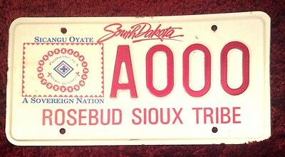 South Dakota Indian Rose Bud Sioux Tribe Tribal Vehicle License Plate Tag S Dak
