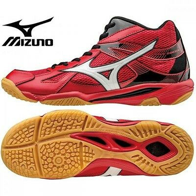 Mizuno Japan Men's WAVE ODEEN MID Volleyball Shoes Red V1GA1655 Free tracking