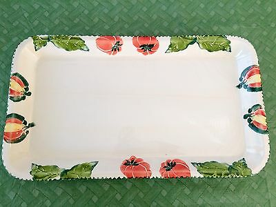 "Vintage ARM Ceramica Large 21.25"" Serving Tray Hand Painted Made in Italy"