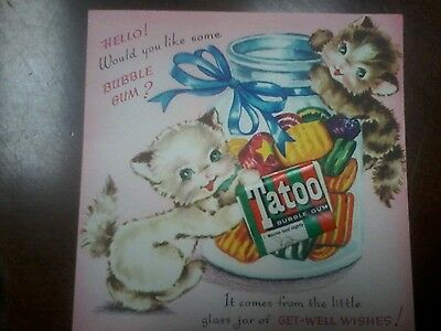 Vintage Get Well Card Unused