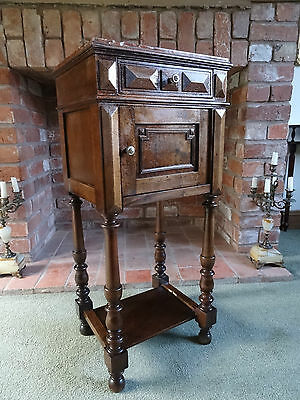 BEAUTIFUL 19thc FRENCH EMPIRE WALNUT BEDSIDE CABINET POT CUPBOARD SIDE TABLE