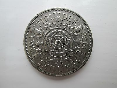 1966 Elizabeth II Florin / Two Shillings Coin