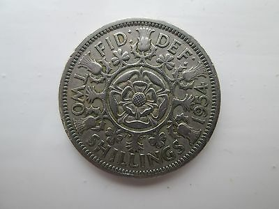 1954 Elizabeth II Florin / Two Shillings Coin