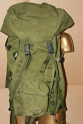 Genuine British Army Olive Bergen Rucksack100 L No side pouches Grade 2 Longback