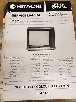 service manual for hitachi cpt-2244 and 2044