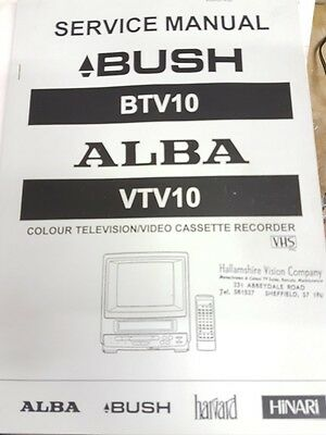 service manual for bush btv10 and alba vtv10