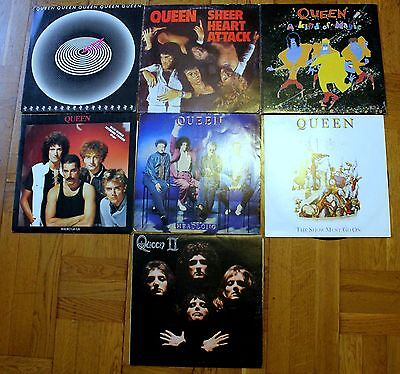 Queen 7 Vinyl Records Albums and Singles - Good Conditions