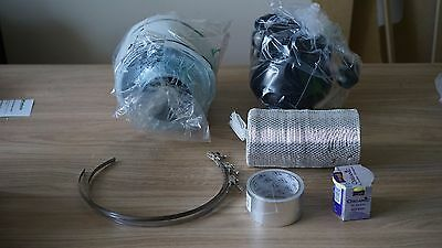 4' Carbon Filter, Black Orchid Small In Line Fan and Duct Kit - Hydroponic Tent