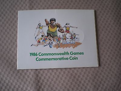1986 Commonwealth Games £2 coin - Dairy Crest wallet