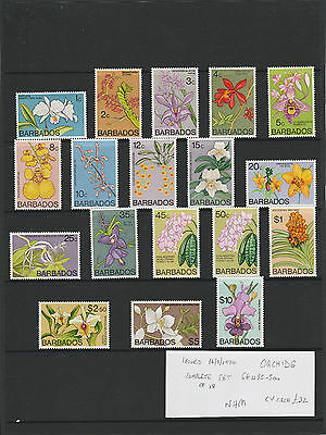 BARBADOS 1974 ORCHIDS issue complete set NHM