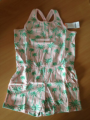 New Gymboree Girls Playsuit age 8-9,  Holiday Pink Palm Trees