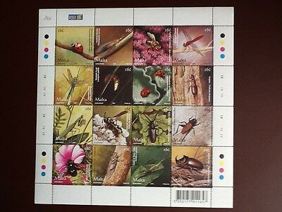 Malta 2005 Insects Miniature Sheet Unmounted Mint SC 1201