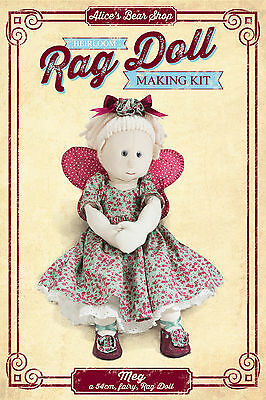 Heirloom Rag Doll Sewing Making Kit - Meg with Fairy Outfit