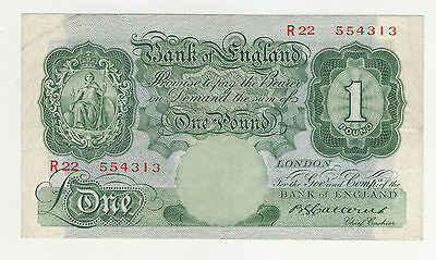Catterns £1 Banknote 1930's R22 554313