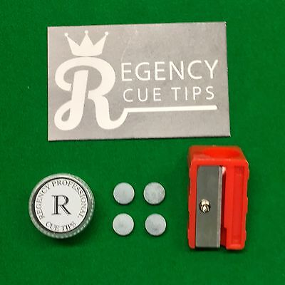 Regency Professional Cue Tips Snooker / Pool With Free Tip Trimmer