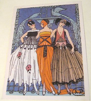 Postcard Art The Three Graces by George Barbier Art Deco - posted