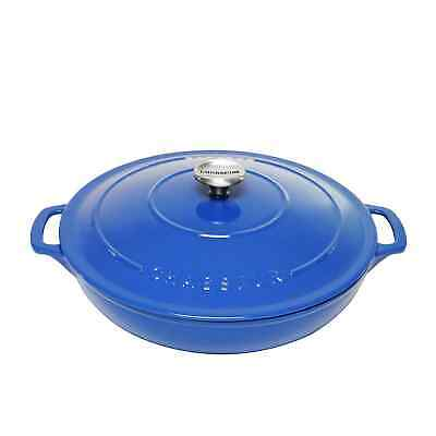 NEW Chasseur Round Casserole 30cm - 2.5L Imperial Blue (RRP $589)