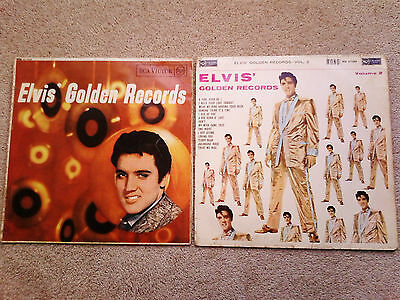 2 x Elvis Presley Albums/LP's: Elvis' Golden Records Volume 1 & 2 (Vinyl)