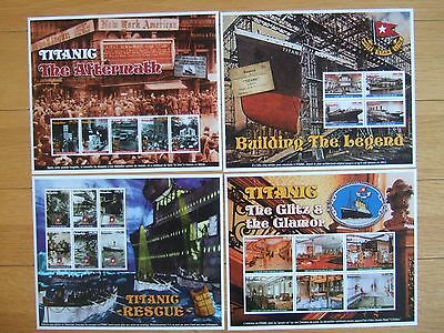MADAGASCAR 1998 TITANIC COMMEMORATIONS 4 x DIFFERENT MINIATURE SHEETS MINT MNH