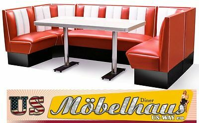 hw-270 American dinerbank Corner Seat Diner Benches Furniture 50´s Retro Fiftie