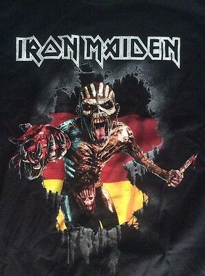 Iron Maiden - Event T-Shirt, Size: L / Tour 2016 - Germany / Book Of Souls