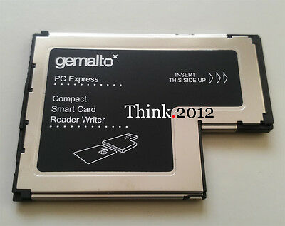 New Lenovo Gemalto ExpressCard 54 Smart Card Writer Reader FRU: 41N3045  41N3043