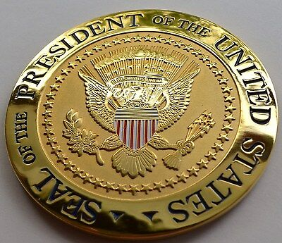 Seal Of The President Gold-Plated Coaster~Only True White House Issue On Ebay!
