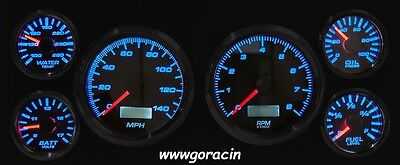 New Vintage USA Performance II White Gauge Set Fits 87-93 Ford Mustang,GT,LX,5.-