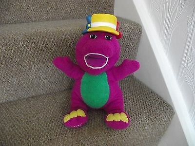 "Barney Silly Hats Barney Talkins,Singing Interactive Toy 11"" Fisher Price Mattel"
