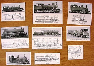 7  Antique Pictures Of Old Steam Locomotives With Plans Removed From 1905 Book