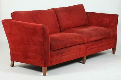 STICKLEY RUST UPHOLSTERED SOFA WITH DOWN CUSHIONS. 21st Century. Mark... Lot 492
