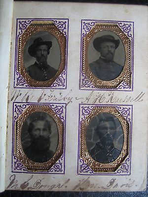 Civil War Photo Album Company 'c' 19Th Wisconsin Union 1864 Veterans