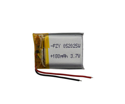 3.7V 180 mAh Li Polymer Li Battery For Mp3 bluetooth glasses pen Sat Nav  052025