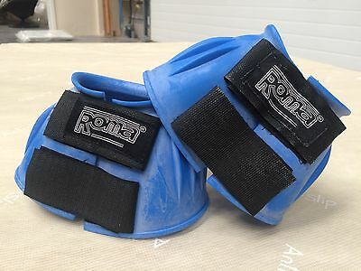 Roma Ribbed Bell/Overreach Boots Blue