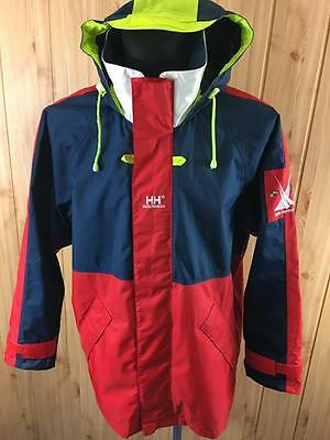 Mens Helly Hansen Helly Tech Waterproof Sailing Yachting Jacket Small S